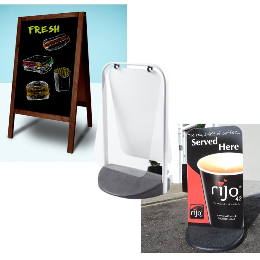 PAVEMENT SIGN - SWING, PANEL, A-BOARD