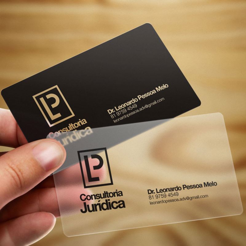 BUSINESS CARDS PLASTIC 760MIC Solid or Clear