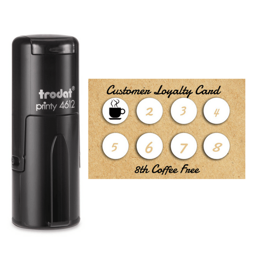 ECO-FRIENDLY LOYALTY CARDS INCL CUSTOM STAMP