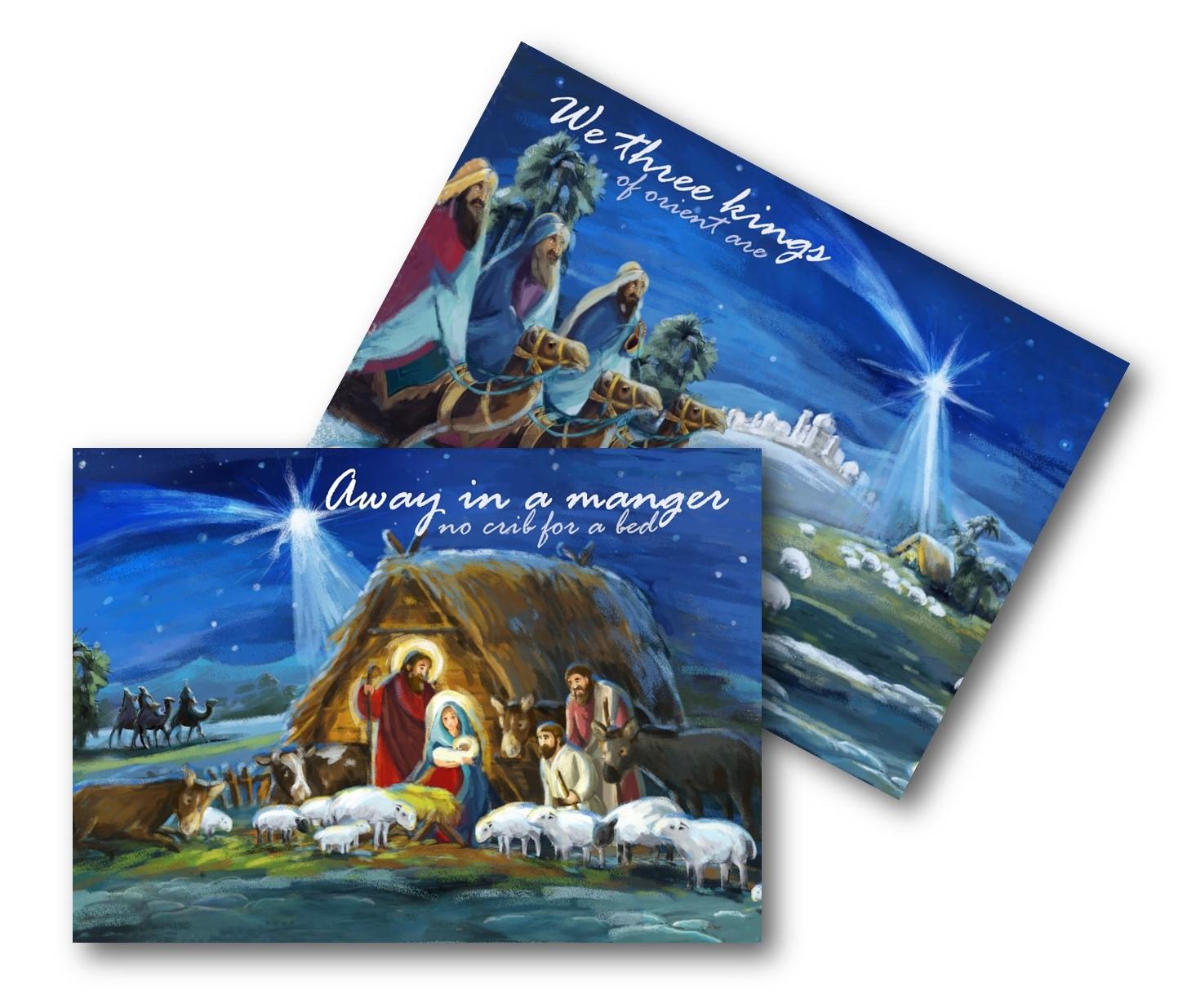 ECO CHRISTMAS CARDS PK10 - THREE KINGS