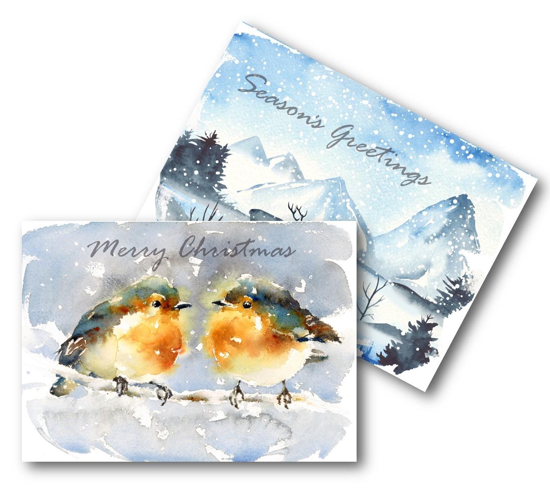 ECO CHRISTMAS CARDS PK10 - ROBIN DEER