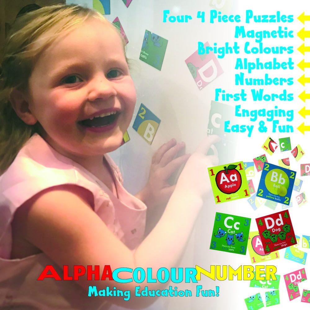 PRE-SCHOOL EDUCATIONAL PUZZLES SET OF 4